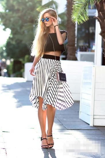夏天服装流行趋势示范 条纹单品让你Cool足一夏