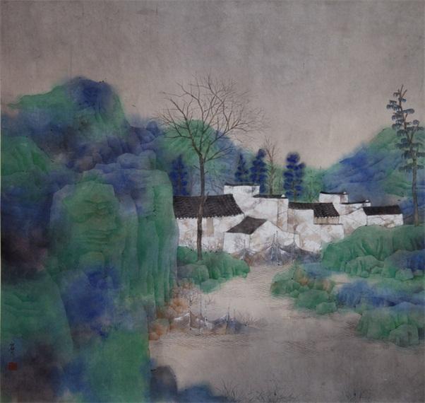 林容生国画作品欣赏