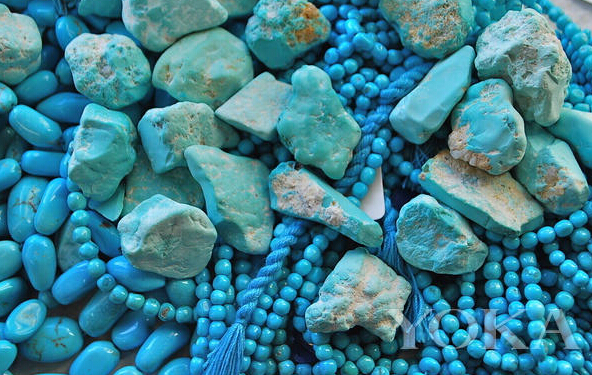 绿松石珠宝美的挑花眼 但是它的药用价值也不可忽略