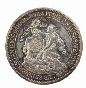 德国萨克森维丁王朝纪念银币收藏鉴赏