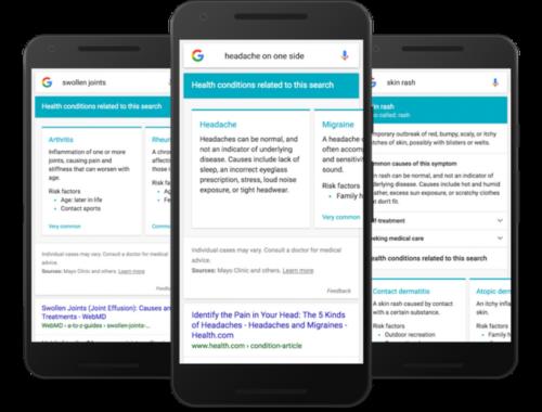 """谷歌推出""""病症搜索"""":帮助用户寻找专业医疗信息"""