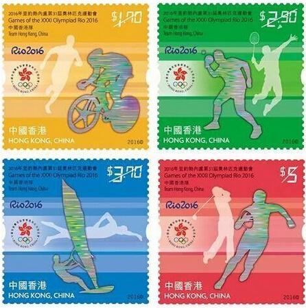 香港8月将发行奥运会纪念邮票