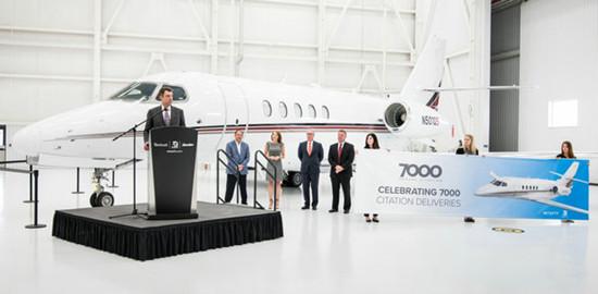 里程碑! 赛斯纳第7000架奖状系列私人飞机交付