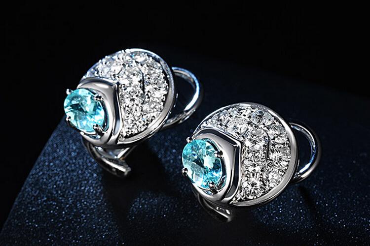 ENZO珠宝白18K金碧玺镶嵌钻石耳环 第2页