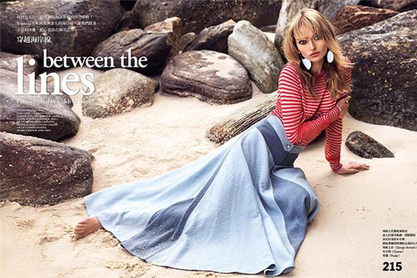 超模Annabella Barber为《Vogue》杂志拍摄大片