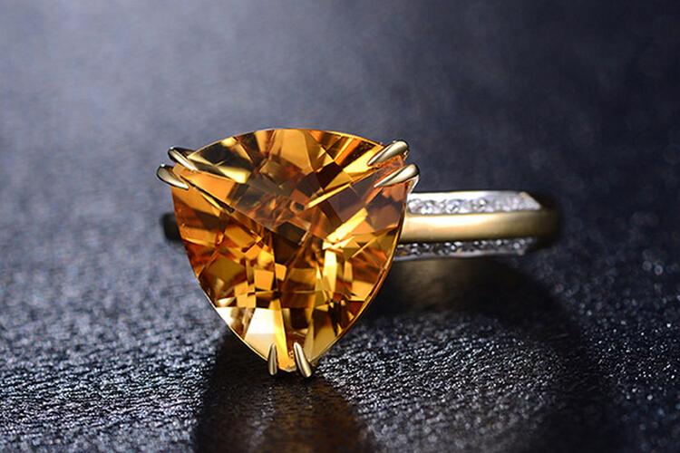 ENZO珠宝18K玫瑰金天然彩宝戒指_珠宝图片