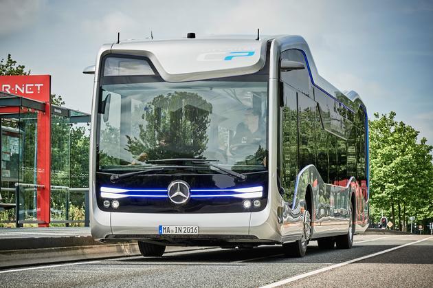奔驰自动驾驶巴士走向现实世界 最高时速可达70公里