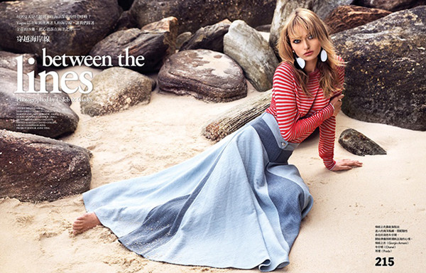 超模Annabella Barber为《Vogue》杂志拍摄时尚大片
