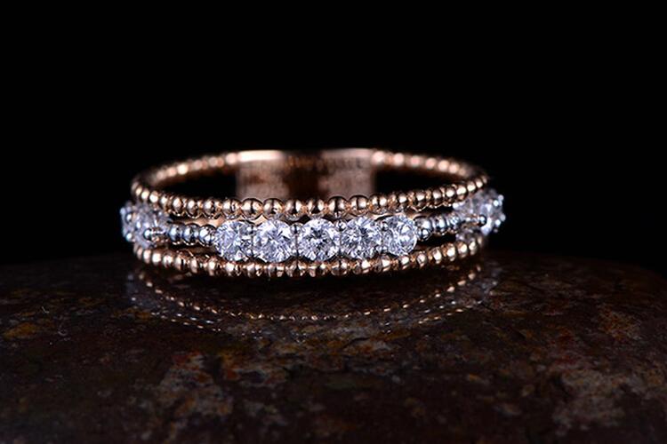 ENZO珠宝红-白双色18K金钻石戒指_珠宝图片