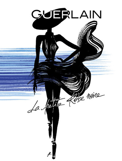 娇兰推出全新小黑裙精萃香水 无法拒她娇媚的性感