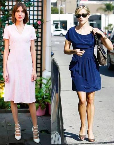 欧美达人初秋街拍示范 收腰X型连衣裙甜美又显瘦