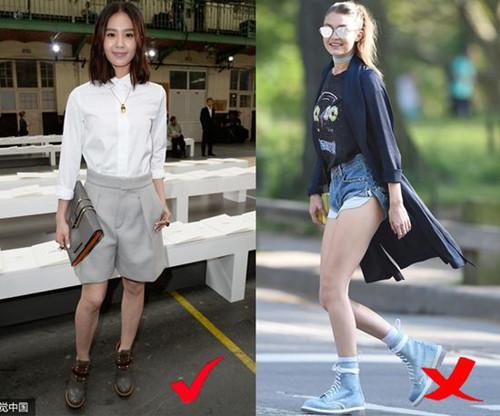 明星穿衣搭配技巧示范 你的小腿粗只需一条百慕大短裤