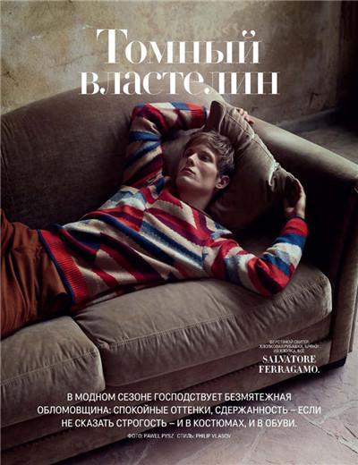 超模Felix Gesnouin为《GQ》杂志拍摄时尚大片