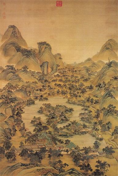 古代青山绿水图收藏鉴赏