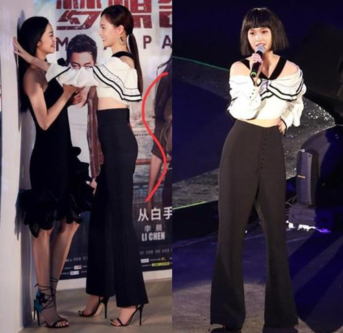 小花旦唐嫣撞衫杨丞琳 同穿黑白套装你更喜欢谁