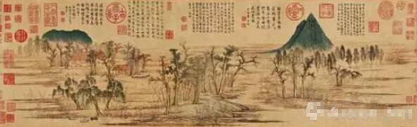 赵孟頫《鹊华秋色图》相传曾被乾隆二次打入冷宫