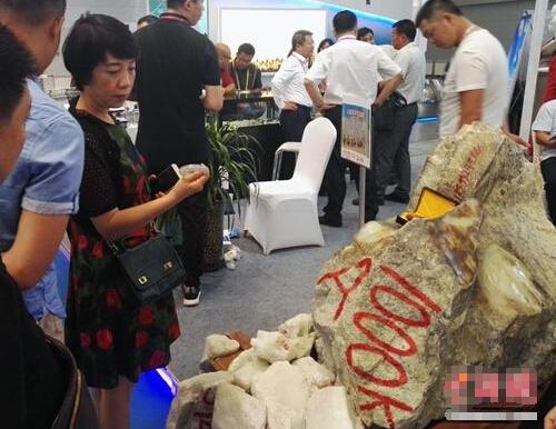 """一吨重!和田玉""""大块头""""亮相第五届中国亚欧博览会"""