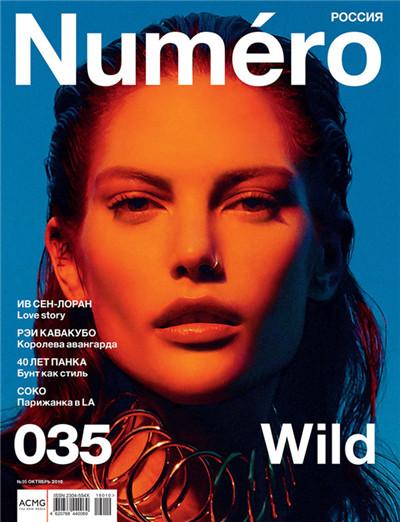 超模Catherine McNeil登上《Numero》杂志封面