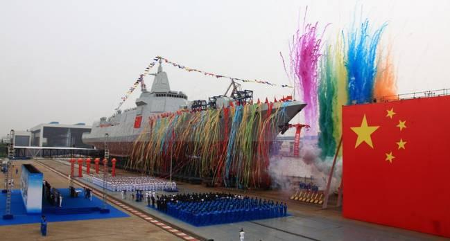中国055型驱逐舰下水 广大军迷期待已久