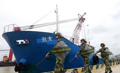 """外籍船走私白糖1300吨 印反""""大庆""""二字被察觉"""