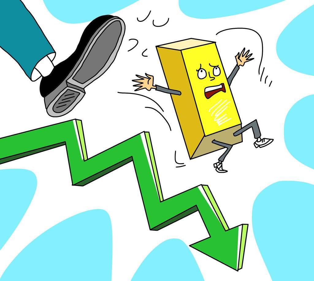 避险消退市场宽慰 金价呈自由落体般坠落