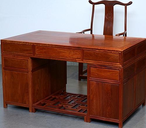 """""""古典中式红木电脑桌""""红木家具价格多少钱?"""