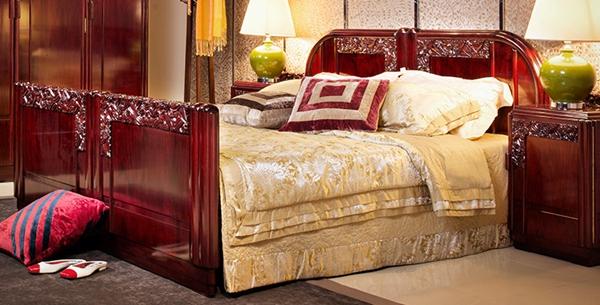 """""""允典红木现代古典双人床""""红木家具及价格"""