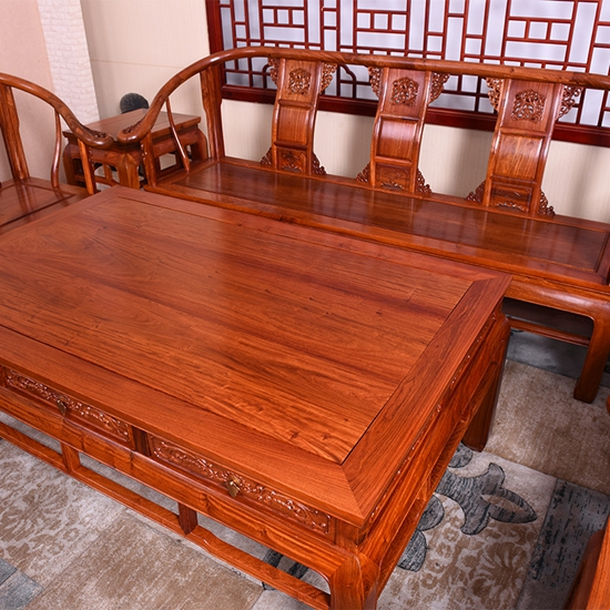 """""""艺铭天下中式红木仿古沙发椅""""一套红木沙发价格"""