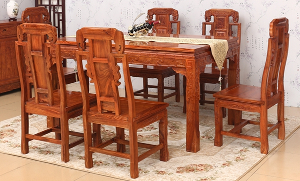 """""""简迪花梨木象头餐桌""""红木家具价格多少钱?"""