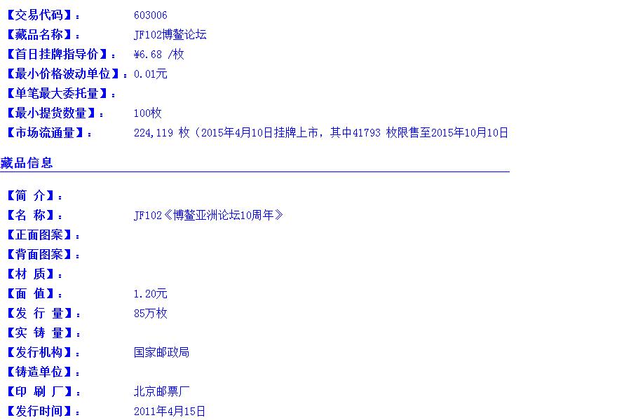 JF102博鳌论坛(603006)