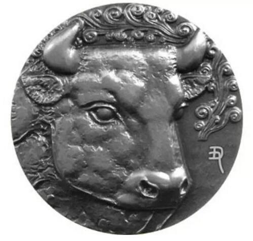 十二生肖兽首银章—牛