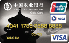 农行金穗东方神韵北京天坛国际旅游金卡(银联+VISA)