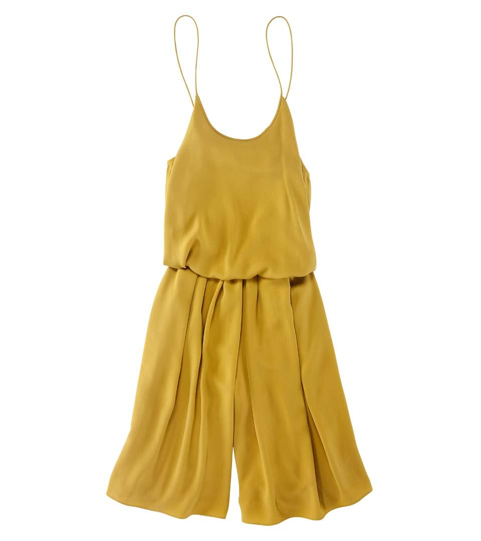 Diane von Furstenberg 褐黄细带连衣裤