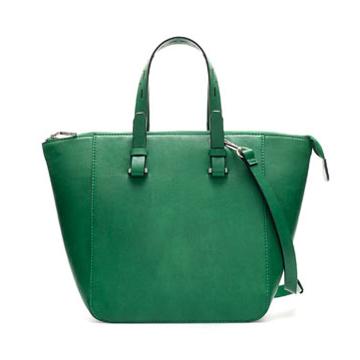 ZARA绿色手拎包