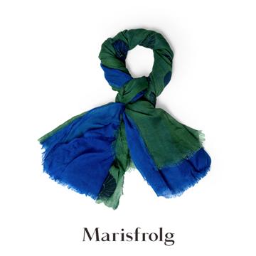 玛丝菲尔蓝绿色围巾