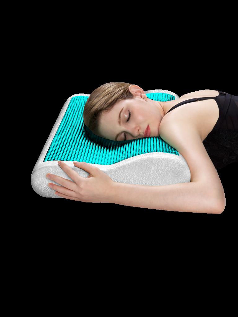 高低凝胶枕(蓝眼)