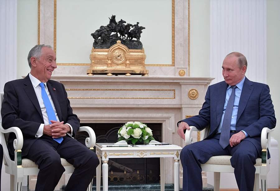 葡萄牙总统见普京 两人谈及世界杯都说了些啥?