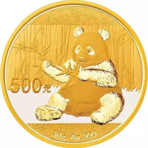 2017版熊猫普制封装金币30克