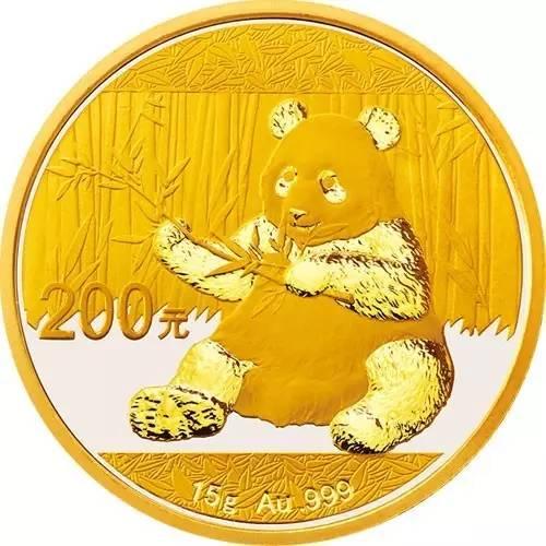 2017版熊猫普制封装金币15克