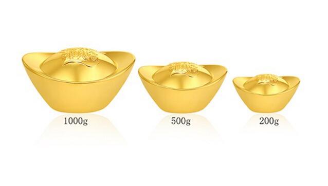 黄金纳财元宝30克