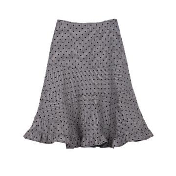 川久保玲灰色波点半裙