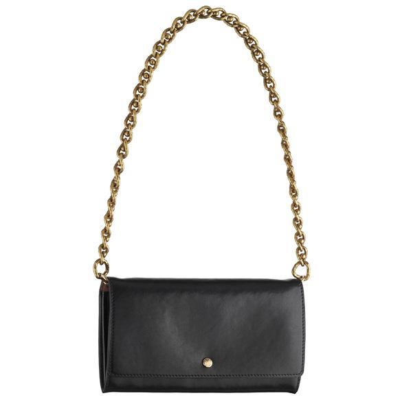 Louis Vuitton路易威登2013秋冬黑色金属链条皮革单肩包