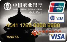 农行金穗东方神韵北京天坛国际旅游卡(银联+VISA,人民币+美元,金卡)