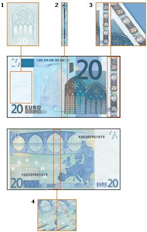 欧元最大面值_20欧元纸币的防伪标记-金投外汇网-金投网