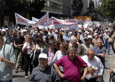 希腊债务危机逼迫希腊实施严苛财政紧缩措施 民众抗议爆发希腊大罢工