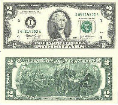 日元汇率_2美元背面图案是什么?-金投外汇网-金投网