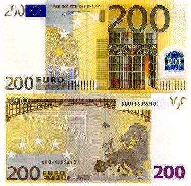 200欧元面值图片