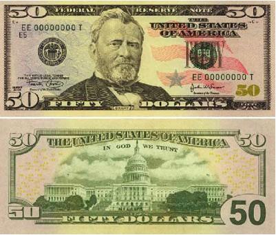 50美元面值图片