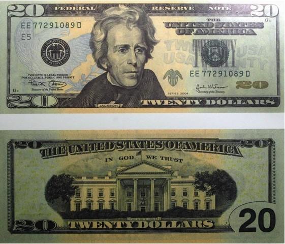 20美元面值图片