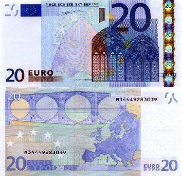 20欧元面值图片